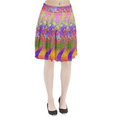 Tree Colorful Mystical Autumn Pleated Skirt