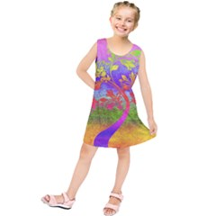 Tree Colorful Mystical Autumn Kids  Tunic Dress