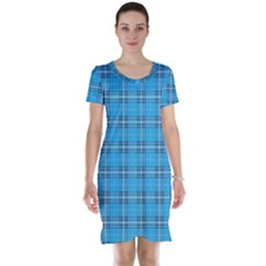 The Checkered Tablecloth Short Sleeve Nightdress