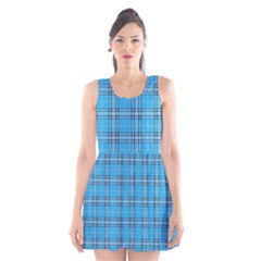 The Checkered Tablecloth Scoop Neck Skater Dress