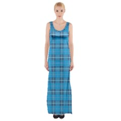 The Checkered Tablecloth Maxi Thigh Split Dress