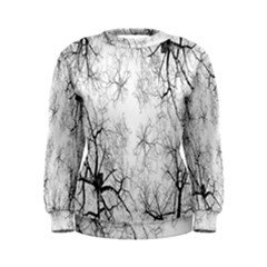 Tree Knots Bark Kaleidoscope Women s Sweatshirt