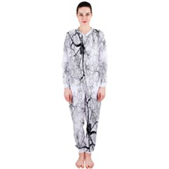 Tree Knots Bark Kaleidoscope Onepiece Jumpsuit (ladies)