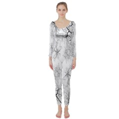 Tree Knots Bark Kaleidoscope Long Sleeve Catsuit