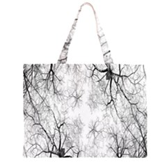 Tree Knots Bark Kaleidoscope Large Tote Bag