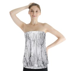 Tree Knots Bark Kaleidoscope Strapless Top