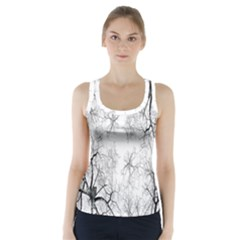 Tree Knots Bark Kaleidoscope Racer Back Sports Top