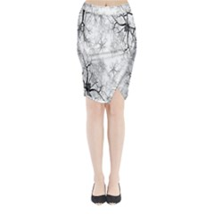 Tree Knots Bark Kaleidoscope Midi Wrap Pencil Skirt