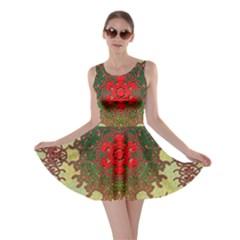 Tile Background Image Color Pattern Skater Dress