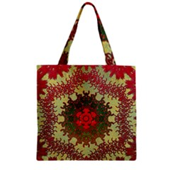 Tile Background Image Color Pattern Zipper Grocery Tote Bag