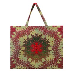 Tile Background Image Color Pattern Zipper Large Tote Bag