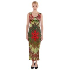 Tile Background Image Color Pattern Fitted Maxi Dress