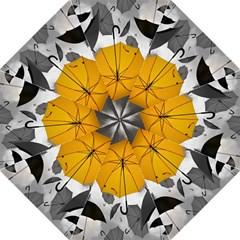 Umbrella Yellow Black White Folding Umbrellas