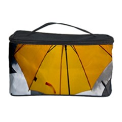 Umbrella Yellow Black White Cosmetic Storage Case
