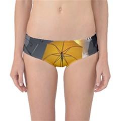 Umbrella Yellow Black White Classic Bikini Bottoms