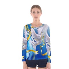 Turtle Doves Christmas Women s Long Sleeve Tee
