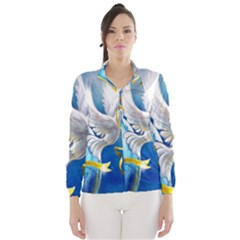 Turtle Doves Christmas Wind Breaker (Women)
