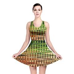 Triangle Patterns Reversible Skater Dress