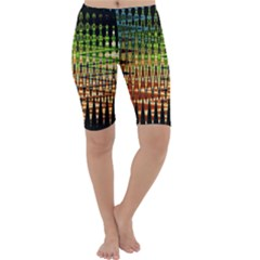 Triangle Patterns Cropped Leggings