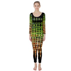Triangle Patterns Long Sleeve Catsuit