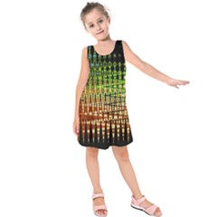 Triangle Patterns Kids  Sleeveless Dress