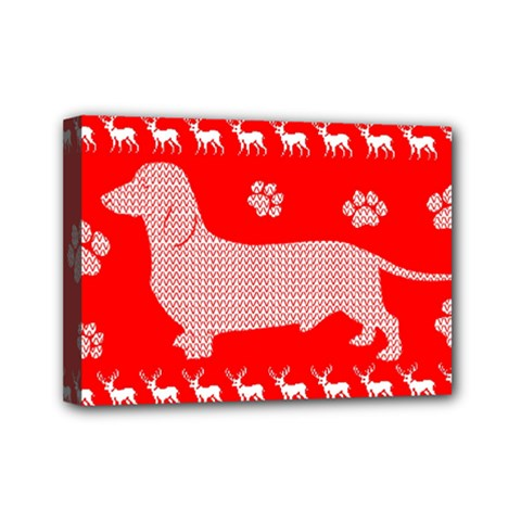 Ugly X Mas Design Mini Canvas 7  x 5