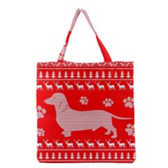 Ugly X Mas Design Grocery Tote Bag