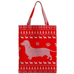 Ugly X Mas Design Zipper Classic Tote Bag