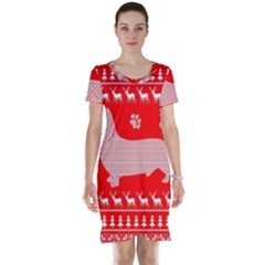 Ugly X Mas Design Short Sleeve Nightdress