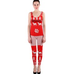 Ugly X Mas Design OnePiece Catsuit