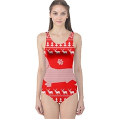 Ugly X Mas Design One Piece Swimsuit