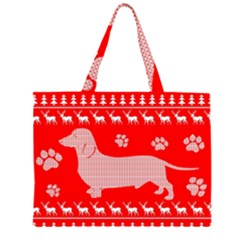 Ugly X Mas Design Zipper Large Tote Bag
