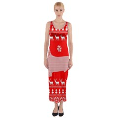 Ugly X Mas Design Fitted Maxi Dress