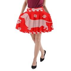 Ugly X Mas Design A-Line Pocket Skirt