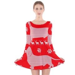 Ugly X Mas Design Long Sleeve Velvet Skater Dress
