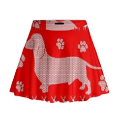 Ugly X Mas Design Mini Flare Skirt