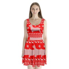 Ugly X Mas Design Split Back Mini Dress