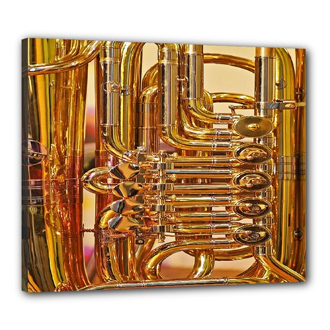 Tuba Valves Pipe Shiny Instrument Music Canvas 24  X 20