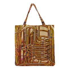 Tuba Valves Pipe Shiny Instrument Music Grocery Tote Bag
