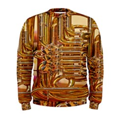 Tuba Valves Pipe Shiny Instrument Music Men s Sweatshirt