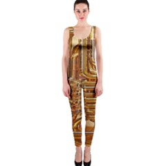 Tuba Valves Pipe Shiny Instrument Music Onepiece Catsuit