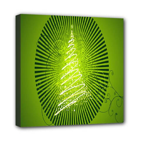 Vector Chirstmas Tree Design Mini Canvas 8  X 8