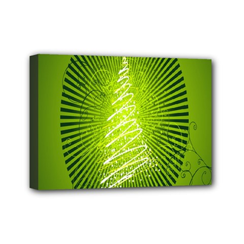 Vector Chirstmas Tree Design Mini Canvas 7  x 5