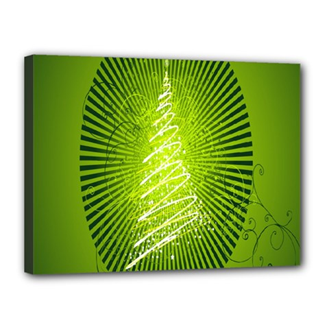 Vector Chirstmas Tree Design Canvas 16  X 12
