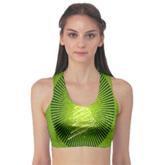 Vector Chirstmas Tree Design Sports Bra