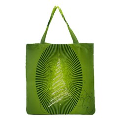 Vector Chirstmas Tree Design Grocery Tote Bag
