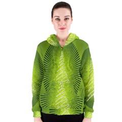 Vector Chirstmas Tree Design Women s Zipper Hoodie