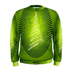 Vector Chirstmas Tree Design Men s Sweatshirt