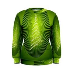 Vector Chirstmas Tree Design Women s Sweatshirt