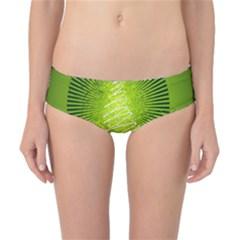Vector Chirstmas Tree Design Classic Bikini Bottoms